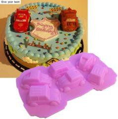 Leukste Winkeltje Chocoladevorm mal auto auto's roze siliconen vorm voor ijsblokjes ijsklontjes chocolade fondant - LeuksteWinkeltje