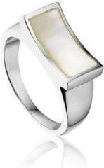 Montebello Ring Tinne - Dames - Zilver Gerhodineerd - Parelmoer - Maat 58 - 18.5