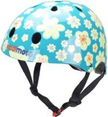 Blauwe Skate- & fietshelm Bloemen Fleur | Kiddimoto