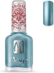 Blauwe Moyra Stamping Nail Polish 12ml SP26 CHROME BLUE