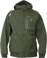 Groene Fox Collection Green/Silver - Shell Hoodie - Maat S - Zilver