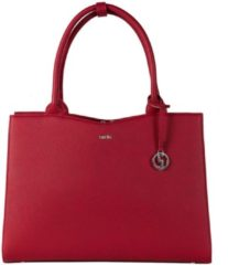 Rode SOCHA Dames Laptoptas 15,6 inch Straight Line Red
