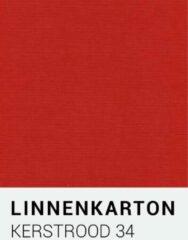 Linnenkarton notrakkarton Linnenkarton 34 Kerstrood 30,5x30,5cm 240 gr.
