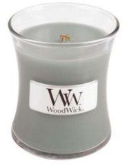 Grijze Woodwick Hourglass Mini Geurkaars - Fireside