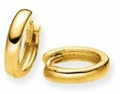 Gouden klapcreolen gold collection Glanzend - ronde buis - 10 x 2.0 mm 207.5080.10