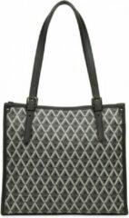 Grijze Shopper LANCASTER Paris Ikon - Tote bag - canvas/leer - Zwart/Grey
