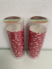 La Cucina: cakevormpjes met patroon (rood/stippen) - set van 2 keer 25 stuks (geschikt in oven)
