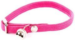 Martin sellier Halsband voor kat elastisch nylon roze 30x1 cm