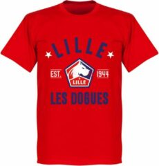 Merkloos / Sans marque OSC Lille Established T-Shirt - Rood - XL