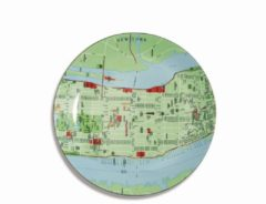 Seletti The World Dinnerwar - Maps Bord 'NY' - Groen - Ø 26,5 cm