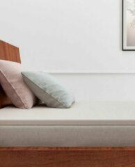 Luxe Linnenlook Katoen Hoeslaken Eenpersoons Topper Ecru | 90x200 | Ademend En Zacht | Hoogwaardige Kwaliteit