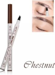Dermarolling Waterproof Liquid Eyebrow Pen 01 Chestnut