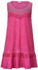Rosa Jersey-Kleid oil wash mit Mesh-Einsatz Angel of Style Pink