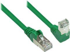S-Conn S-Impuls S/FTP CAT6 Gigabit netwerkkabel haaks/recht / groen - 2 meter