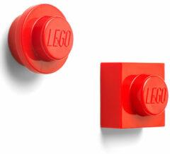 Rode LEGO Iconic Magneten - Set van 2 Stuks - �7 cm