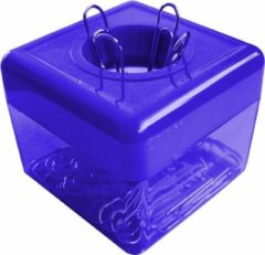 SDI - Paperclip dispensers - 50x50x45mm - Inclusief 100 paperclips! - Blauw - 1 stuk