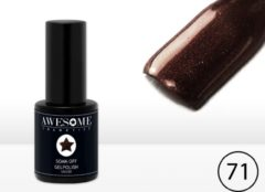 Awesome #71 Chocolade bruin - fijne glitter - Gelpolish - Gellak - Gel nagellak - UV & LED