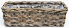 Grijze Van der Leeden Bak Rotan Antique Grijs 60X23H20CM