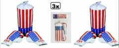 Thema party 3x Boks set junior wit/rood-USA