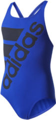 Blauwe Adidas Swimsuit INF Badpak kind - Maat 140 Kinderen - blauw - zwart