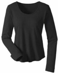 Enna Shirt met lange mouwen van bourette zijdenjersey, Zwart 36/38