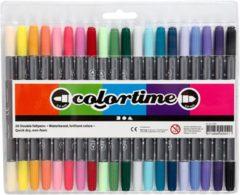 Creotime Colortime dubbelstift lijndikte: 2 3+3 6 mm extra kleuren 20stuks