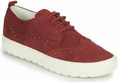 Bordeauxrode Lage Sneakers Geox D BREEDA