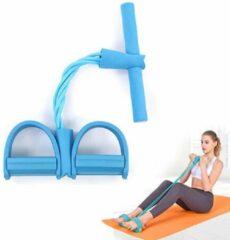 Bodio Weerstandsband - Resistance band - Fitness elastiek - Weerstandbanden Fitness - Fitness krachttraining - Fitness - Yoga - Binnen - Buiten - Full body workout - Blauw
