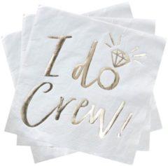 Gouden Ginger ray Servetten - I Do Crew (16 stuks)
