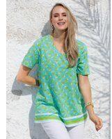 Blauwe Shirt MIAMODA Turquoise::Groen