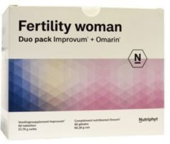 Nutriphyt Fertility woman duo 2 x 60 capsules 120 Capsules