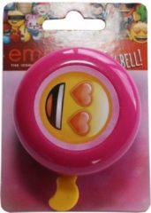 Roze Wenskaartenvoordeel.nl Emoji Fietsbel - Pink - Love - Hartjes - Kinderen
