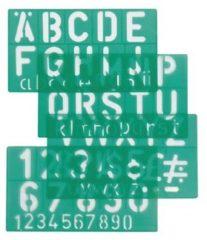 Linex 100411050 Groen Polypropyleen Letter, number & symbol stencil belettering