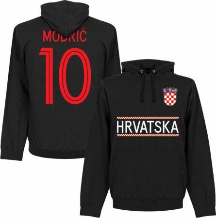 Afbeelding van Retake Kroatië Modric 10 Team Hooded Sweater - Zwart - M