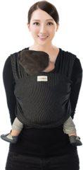 Zwarte Babylonia Baby Draagdoek 100% organisch met trendy design - TRICOT SLEN DESIGN model - One Size - Black stipple