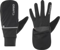 Zwarte Craft Craft Hybrid Weather Glove 1903014 - Handschoenen - Black - Unisex - Maat XXL