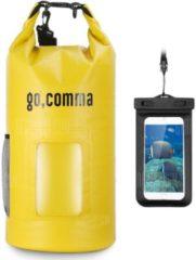 "GearBest ""Gocomma 10L Waterproof Kayaking Bag - Yellow"""
