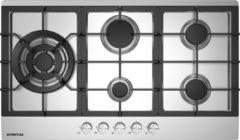 Roestvrijstalen Inventum IKG9023WGRVS - Inbouw gaskookplaat