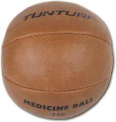 Tunturi Medicine Ball - Medicijnbal - Crossfit ball - 1 kg - Bruin kunstleder