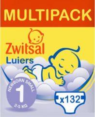 Zwitsal luiers Maandbox Maat 1 (Newborn Small) 2-5 kg Luiers - 132 stuks