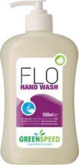 Groene Greenspeed handzeep Flo, voor frequent gebruik, bloemenparfum, flacon van 500 ml