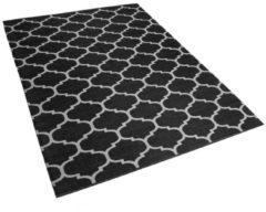 Beliani Outdoor tapijt zwart-wit 140x200 cm tweezijdig ALADANA