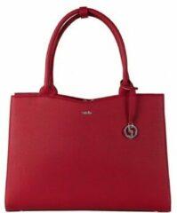 Rode SOCHA Dames Laptoptas 15,6 inch Straight Line Red