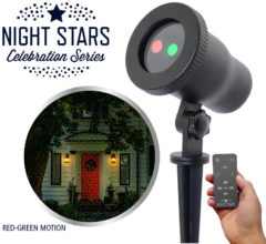 Zwarte Laser Light Night Stars Laser projector - Night Stars Premium Motion (bewegend en met afstandsbediening)