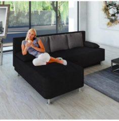 Ecksofa Bettsofa Schlafsofa Couch mit Schlaffunktion 'Magota Schwarz' 81 x 203 x 78 cm VCM Schwarz