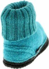 Blauwe Bergstein Cozy baby slofjes turquoise