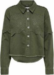 Groene Only Onlelena Life Crochet Jacket Otw 15232378 Kalamata