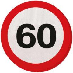 Partywinkel 60 jaar verkeersbord servetten - 20 stuks