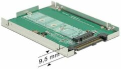 DeLOCK 2,5'' U.2 SFF-8639 behuizing voor M.2 NVMe PCIe SSD (max. 80mm) / zilver