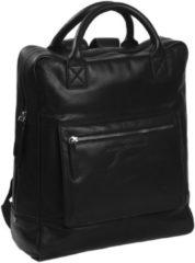 Zwarte The Chesterfield Brand Yonas Laptop Backpack black backpack
